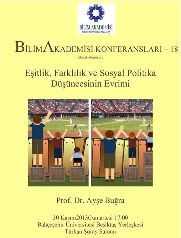 Eşitlik, Farklılık ve Sosyal Politika Düşüncesinin Evrimi - Konuşmacı : Prof. Dr. Ayşe Buğra