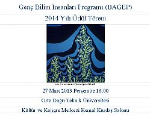BAGEP 2014 Ödül Töreni