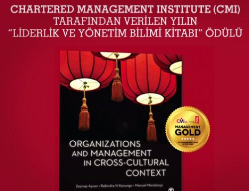 """Bilim Akademisi üyesi Zeynep Aycan'a """"Liderlik ve Yönetim Bilimi Kitabı"""" Ödülü"""