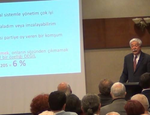 """Prof. Yılmaz Esmer'in """"Türkiye'de Başkanlık Sistemi ve Demokrasi"""" Paneli Sunumu"""