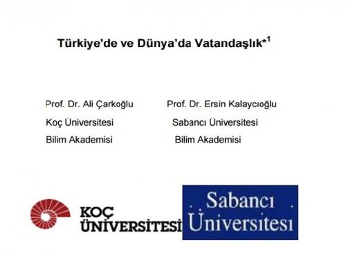 Türkiye'de ve Dünya'da Vatandaşlık – 2014 ISSP Araştırma Raporu