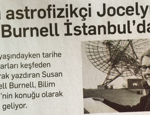 Ünlü Astrofizikçi Jocelyn Bell Burnell İstanbul'da – Popular Science (Ocak 2016)
