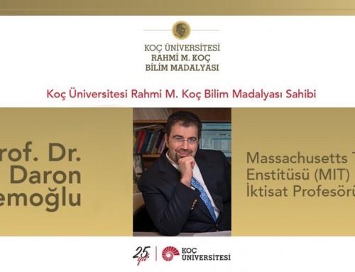2017 Rahmi M. Koç Bilim Madalyası Daron Acemoğlu'nun