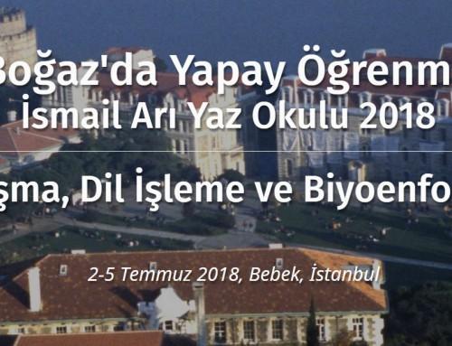 Ders Videoları: Boğaz'da Yapay Öğrenme  İsmail Arı Yaz Okulu 2018