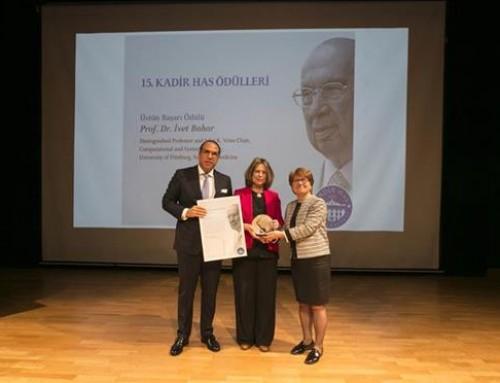 Prof. İvet Bahar'a 2019 Kadir Has Üstün Başarı Ödülü