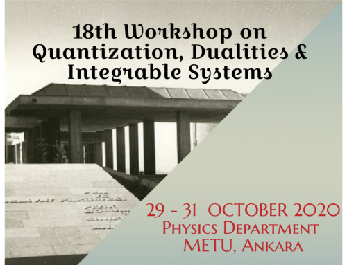 "Çevrimiçi Çalıştay: ""18th Workshop on Quantization, Duality and Integrable Systems"""